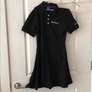 Alacepkem polo 👕 tennis mini dress in black